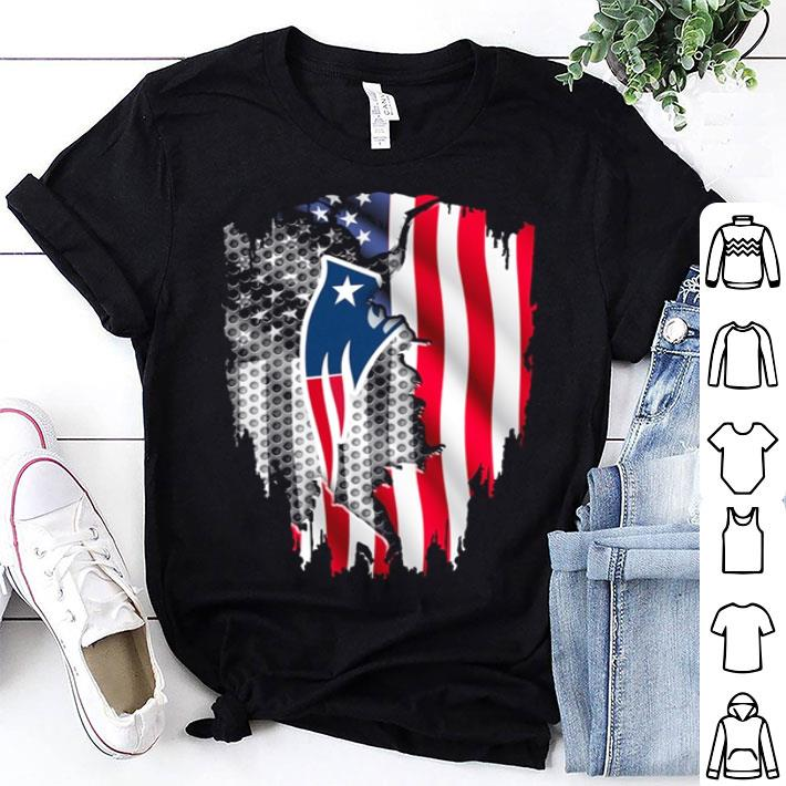 New England Patriots American flag shirt
