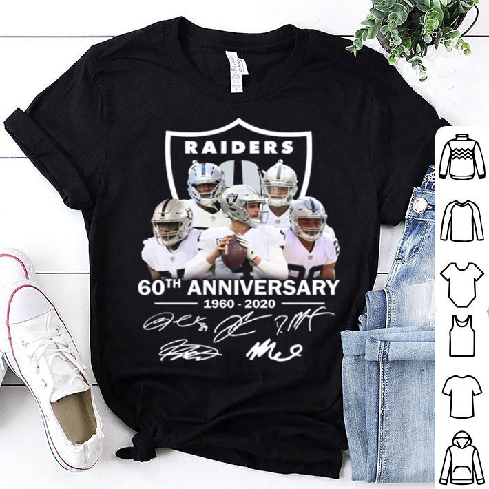 Oakland Raiders 60th anniversary 1960-2020 signatures shirt