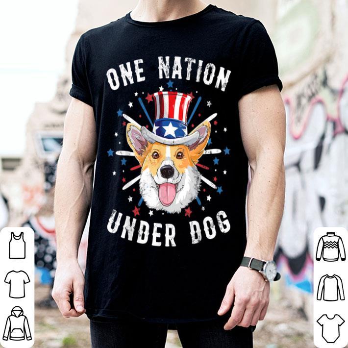 One Nation Under Dog Corgi American Flag July 4th Patriotic shirt