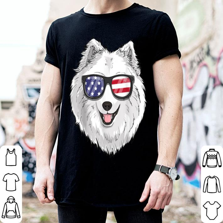 Samoyed Dog Patriotic Usa 4th Of July American shirt