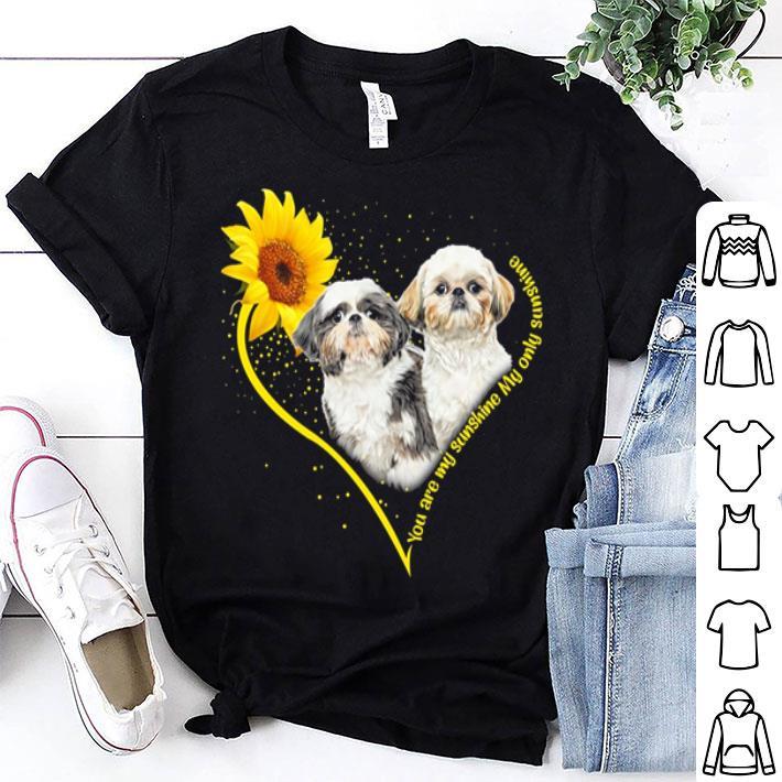 Shih Tzu heart sunflower you are my sunshine my only sunshine shirt