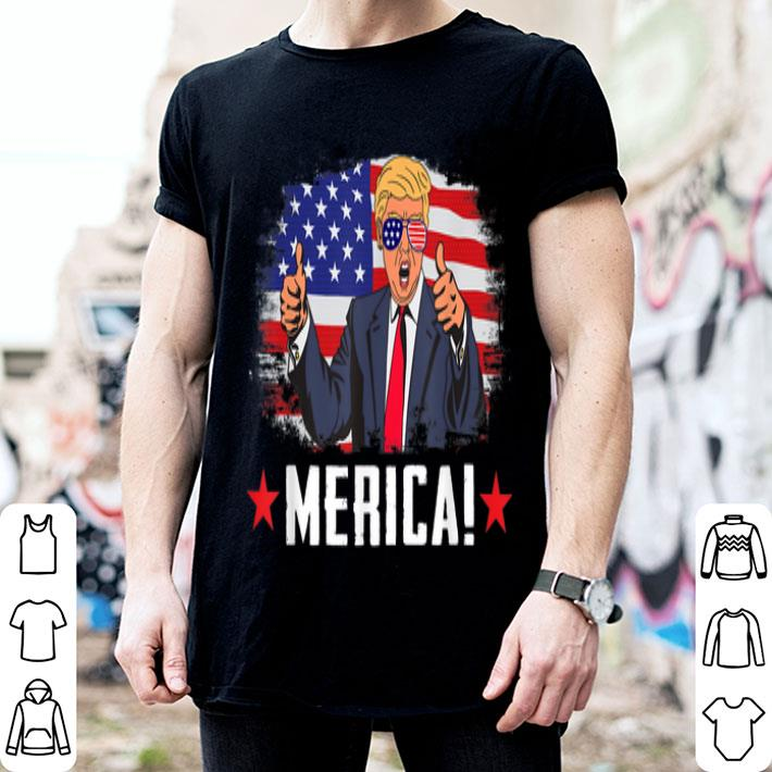 Trump Merica US Flag 4th of July shirt