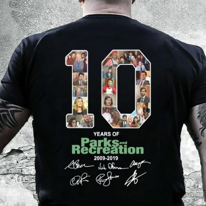 10 Years Of Parks and Recreation 2009-2019 signatures shirt