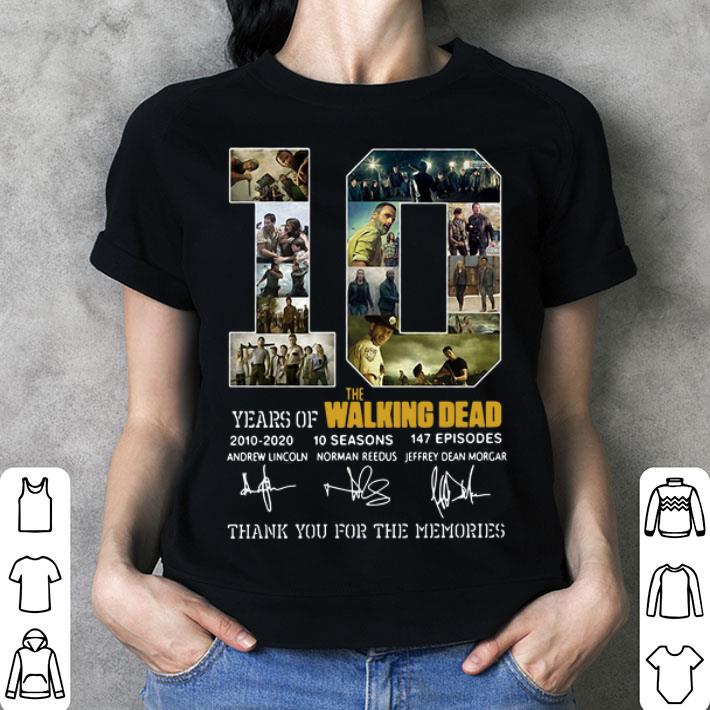 10 Years of The Walking Dead 2010-2020 signatures shirt