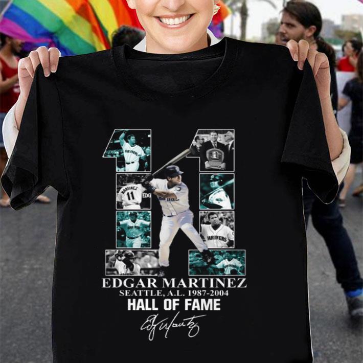 11 Edgar Martinez Seattle 1987-2004 Hall Of Fame signature shirt