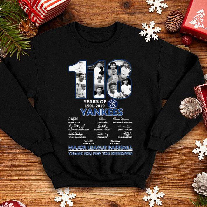 118 Years Of New York Yankees 1901-2019 signatures shirt