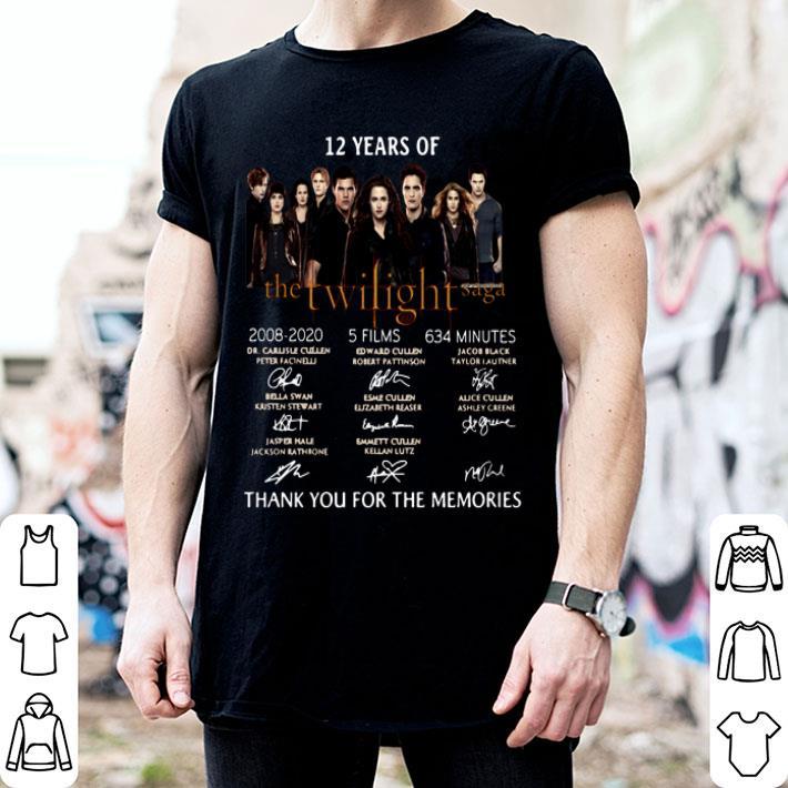 12 Years Of The Twilight Saga 2008-2020 signatures shirt