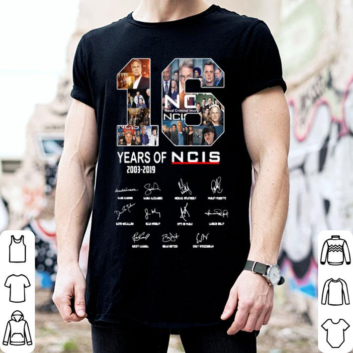 16 Years Of NCIS 2003 2019 signatures shirt