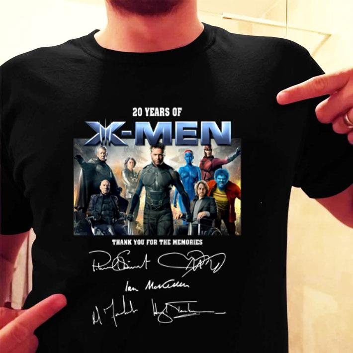 20 years of X-Men thank you for the memories signatures shirt