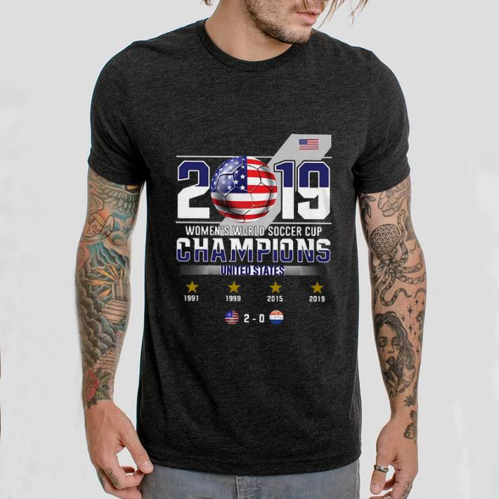 2019 Women's World Soccer Cup Champions United States shirt 2