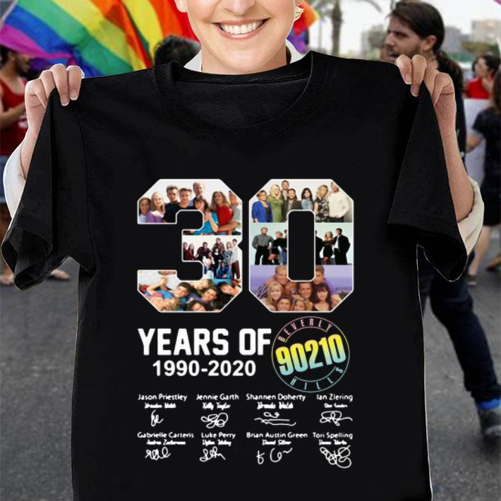 30 years of Beverly Hills 90210 1990-2020 signatures shirt