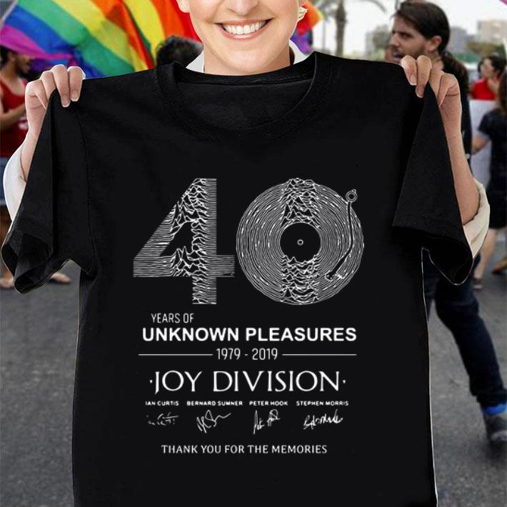 40 years of Unknown Pleasures 1979-2019 Joy Division signatures shirt