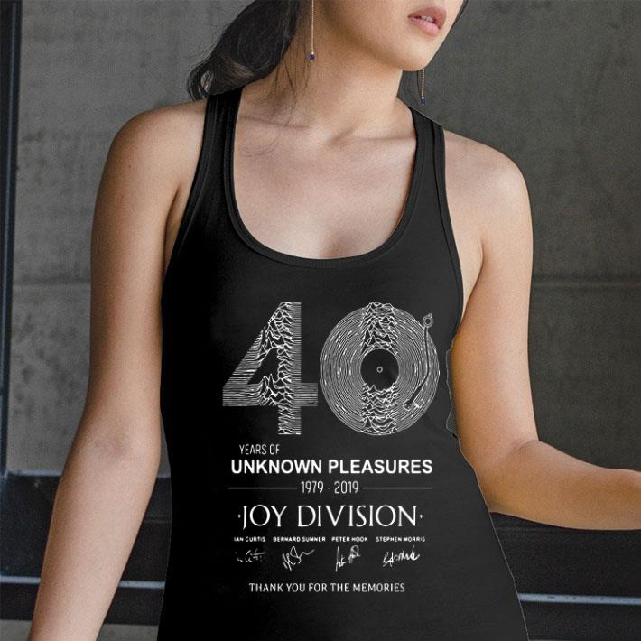 40 years of Unknown Pleasures 1979-2019 Joy Division signatures shirt 2