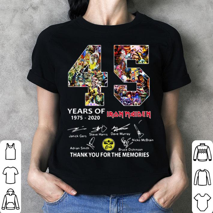 45 years of Iron Maiden signatures thank you the memories shirt
