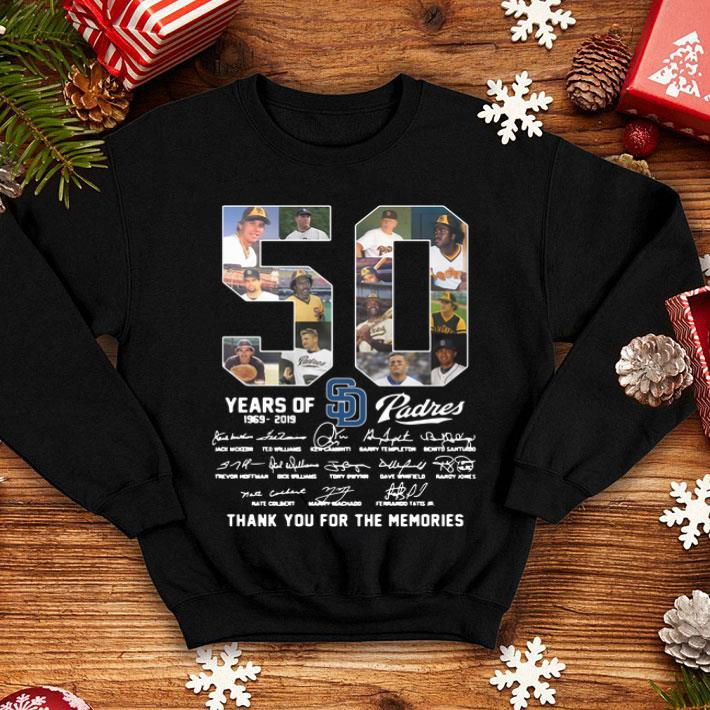 50 Years Of San Diego Padres 1969-2019 signatures shirt