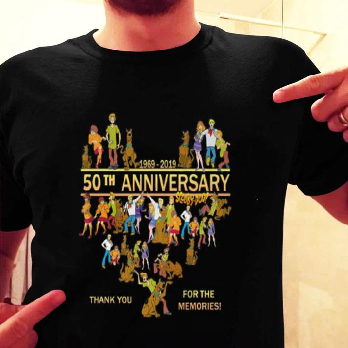 50th anniversary Scooby-Doo 1969-2019 thank you for the memories shirt