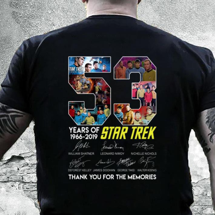 53 years of Star Trek 1966-2019 signatures thank you for the memories shirt