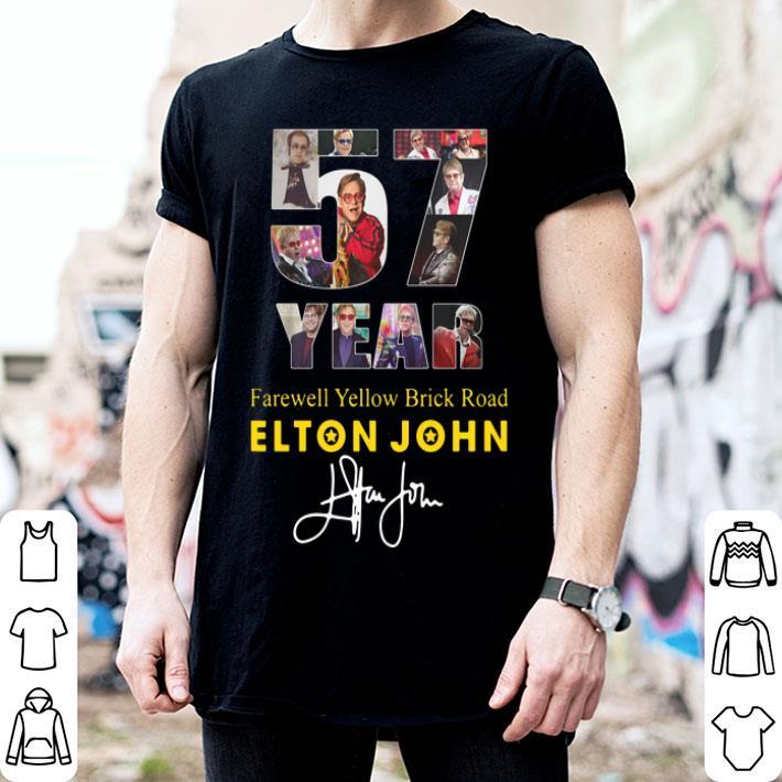 57 Years Farewell Yellow Brick Road Elton John signature shirt