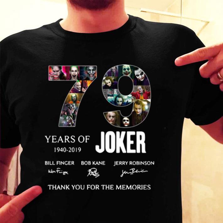 79 Years of Joker 1940-2019 signatures shirt