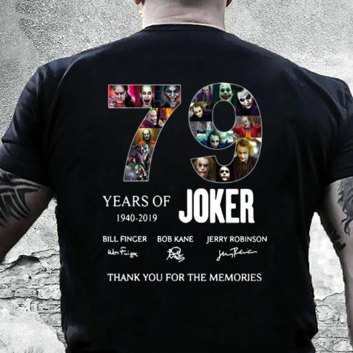 79 Years of Joker 1940-2019 signatures shirt
