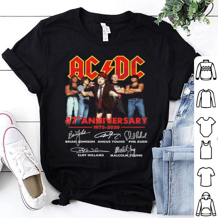 ACDC 47th anniversary 1973-2020 signatures shirt