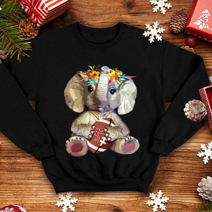 sports shoes b48c2 18534 Alabama Crimson Tide Elephant Flower shirt, hoodie, sweater, longsleeve  t-shirt
