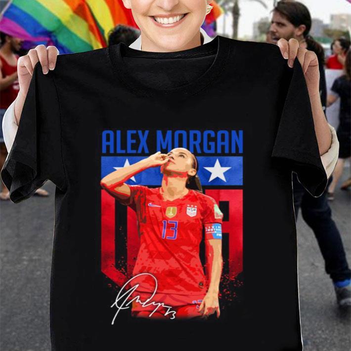 Alex Morgan sipping tea signature shirt