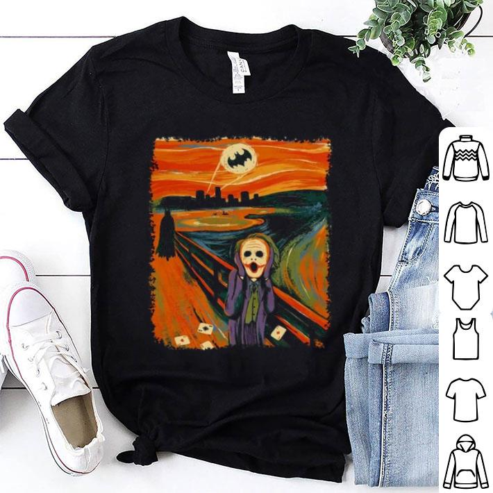 Bat-signal Batman Joker Scream Cross Stitch Pattern shirt