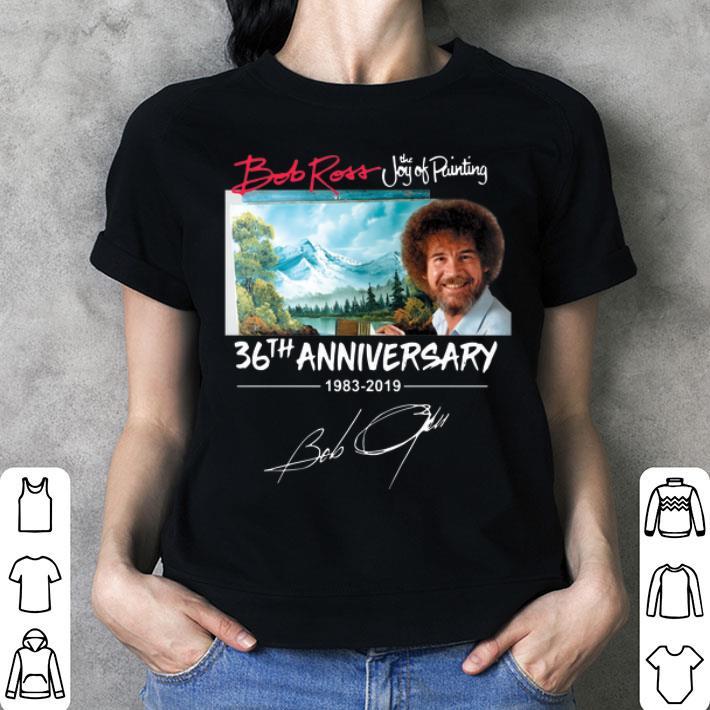 Bob Ross The Joy of Painting 36th Anniversary signature shirt