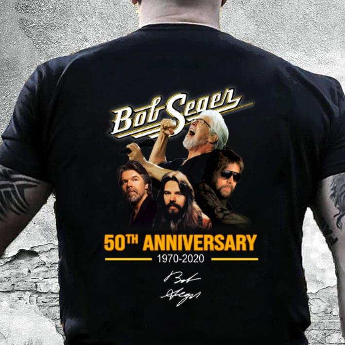 Will Bob Seger Tour In 2020 Bob Seger 50th anniversary 1970 2020 signature shirt, hoodie
