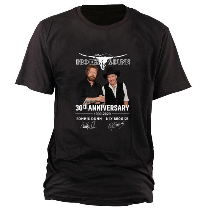 Brooks & Dunn 30th anniversary 1990-2020 Ronnie Dunn signatures shirt 1