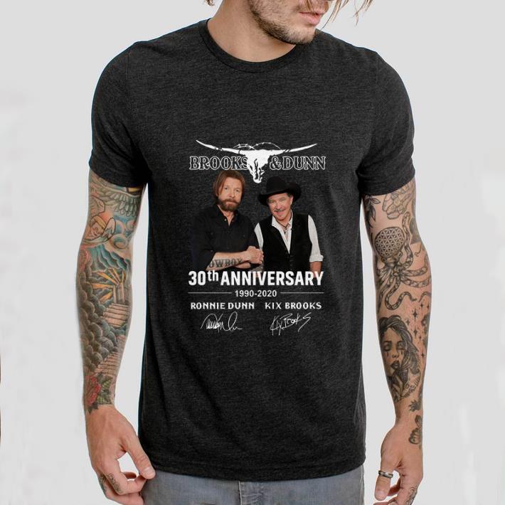 Brooks & Dunn 30th anniversary 1990-2020 Ronnie Dunn signatures shirt 2