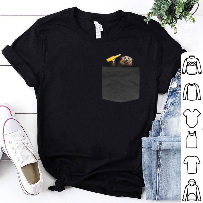Camping bear in pocket shirt