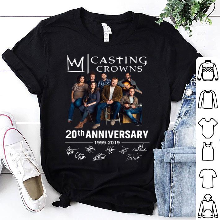 Casting Crowns 20th anniversary 1999-2019 signatures shirt