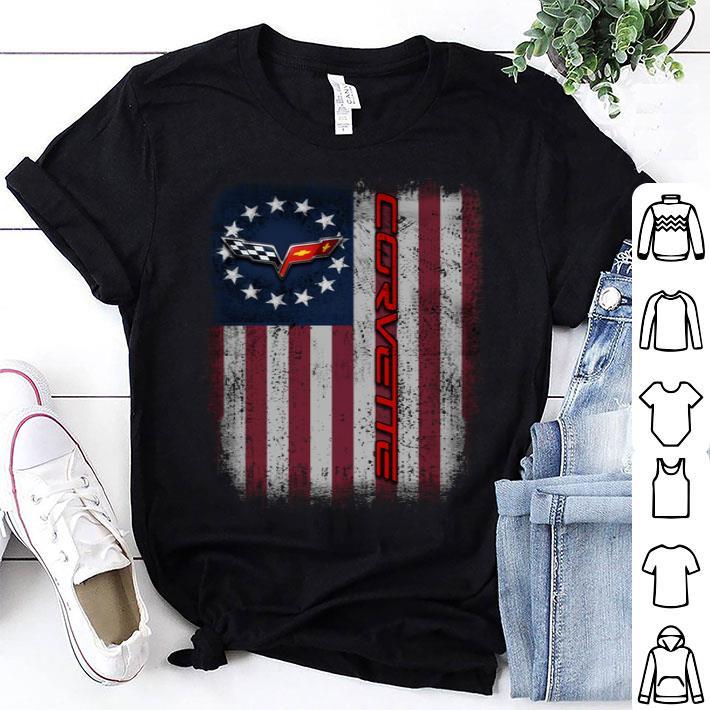 Chevrolet Corvette Logo Betsy Ross flag shirt
