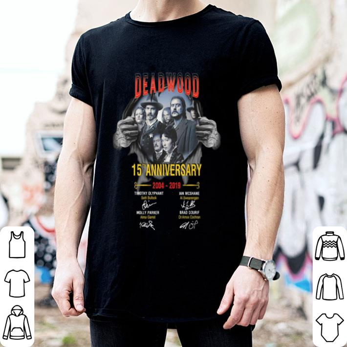 Deadwood The Movie 15th anniversary 2004-2019 signatures shirt