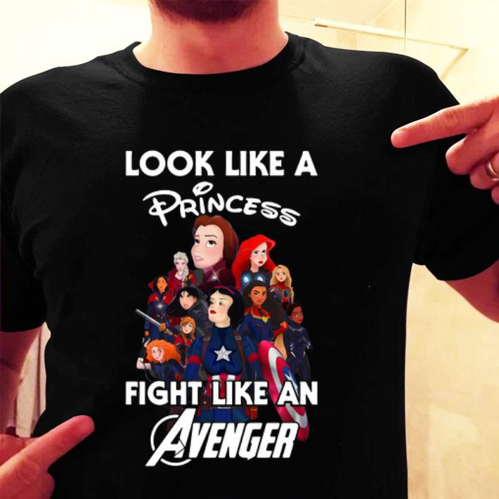 Disney Princess Look like a princess fight like an Avenger shirt