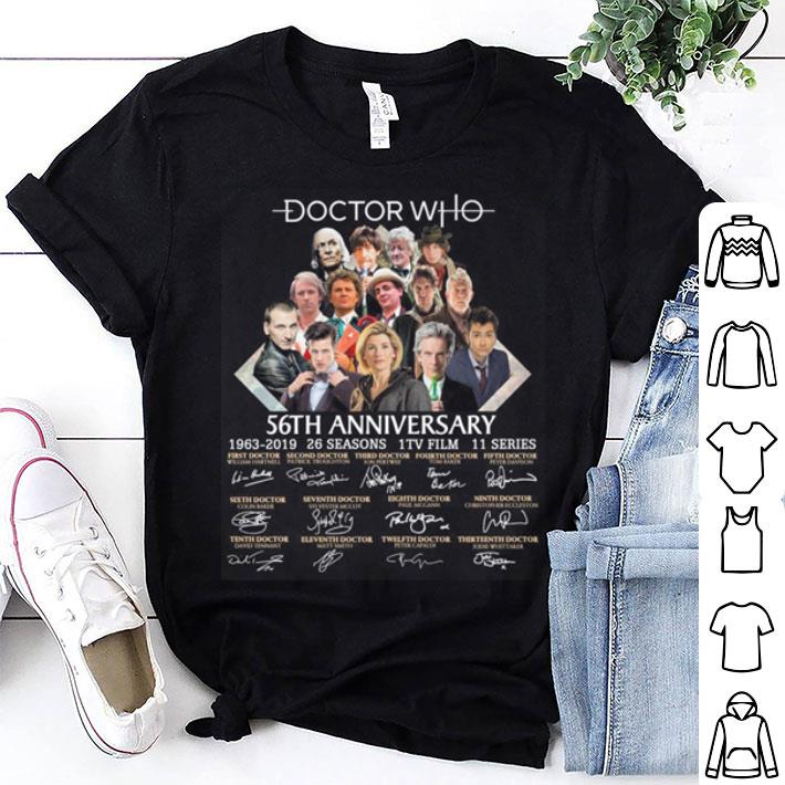 Doctor Who 56th anniversary 1963-2019 signatures shirt