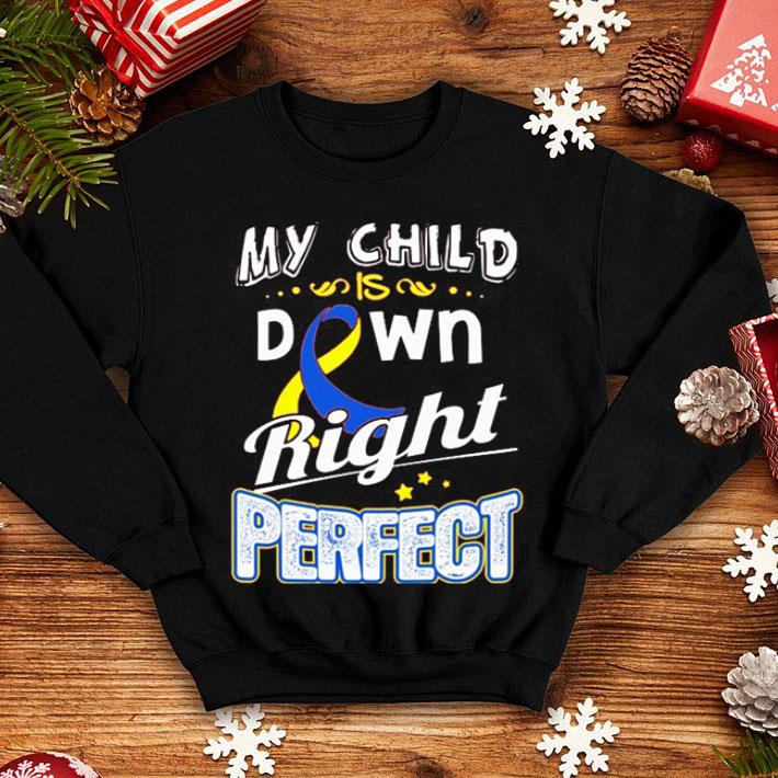 Down Syndrome Awareness My child is down right perfect shirt