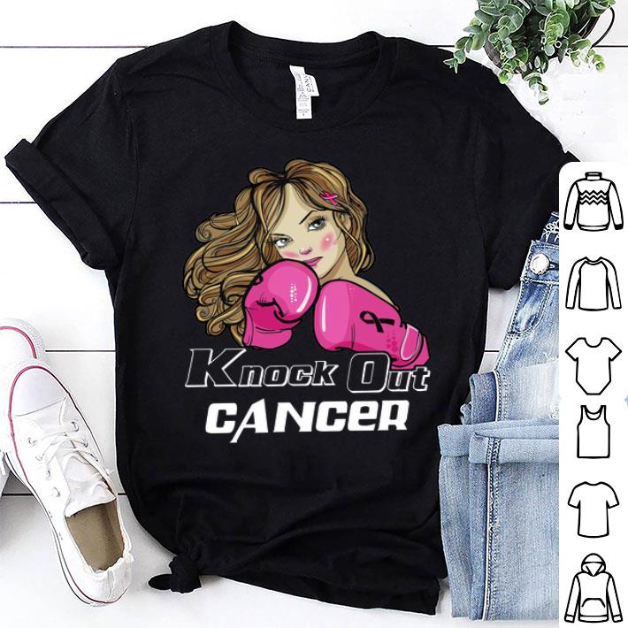 Girl Boxing knock out cancer shirt