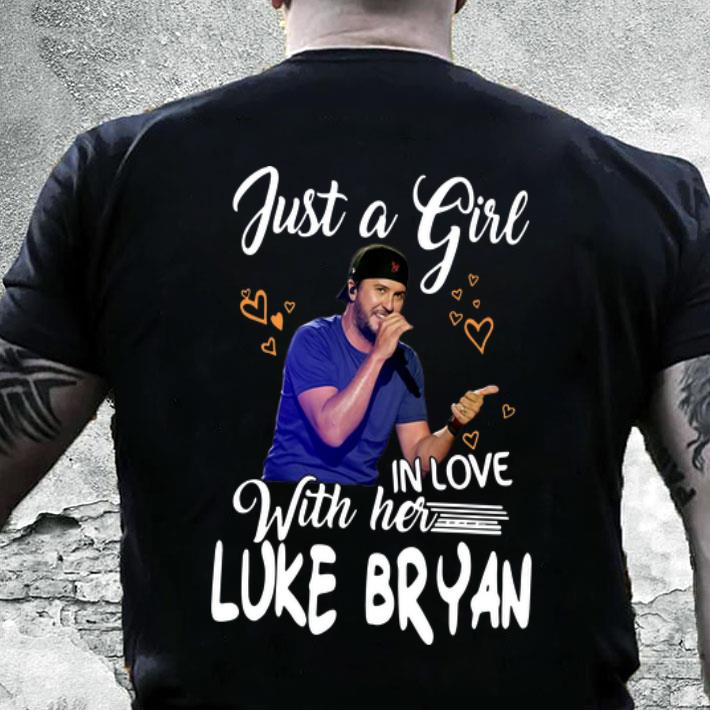 Luke Bryan just a girl in love with her shirt