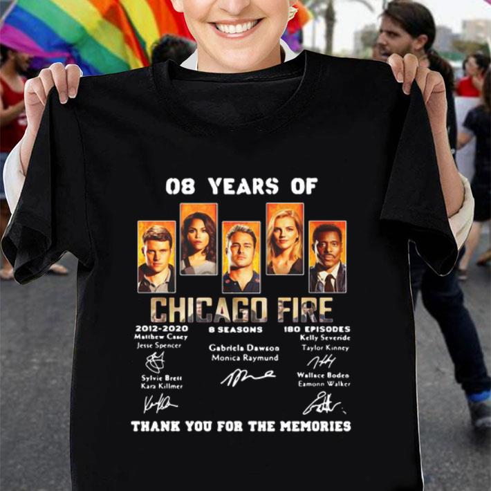 08 years of Chicago Fire 2012-2020 thank you for the memories shirt