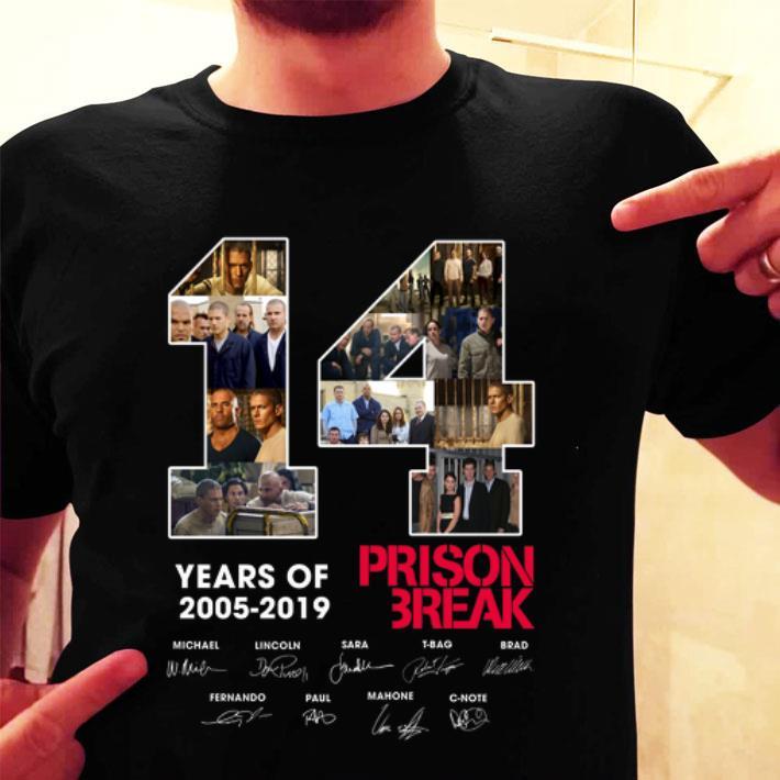 14 Years Of Prison Break 2005-2019 Signatures shirt