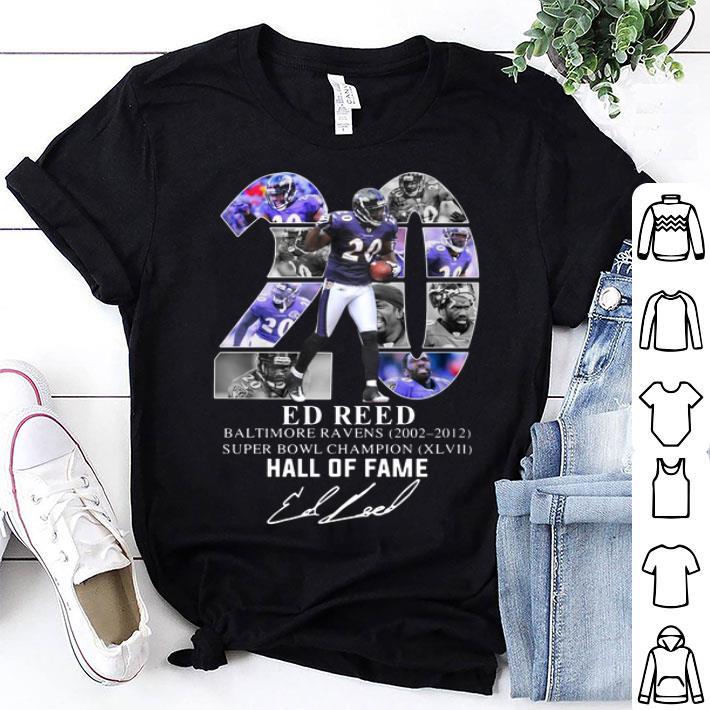 3cbbf03e 20 Ed Reed Baltimore Ravens 2002-2012 Super Bowl Champion shirt