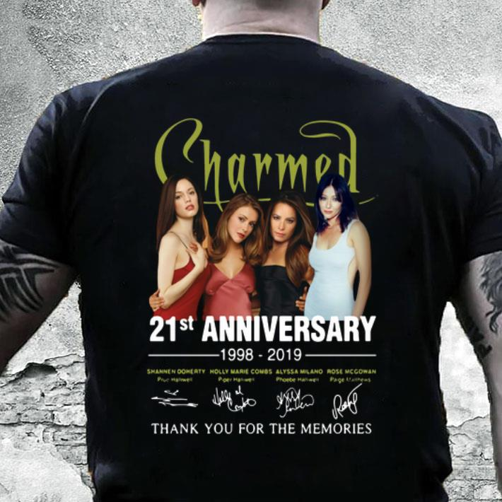 21st Anniversary Charmed 1998-2019 Thank You For The Memories shirt