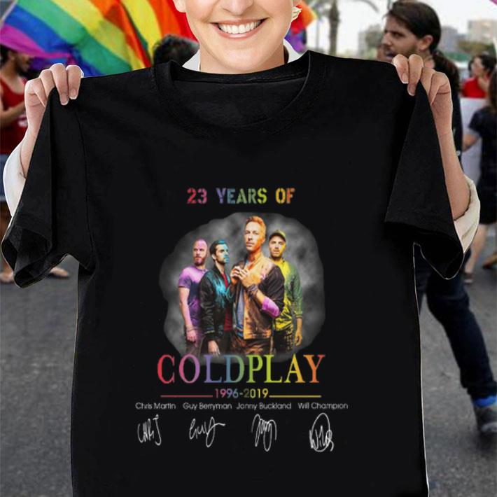 23 years of Coldplay 1996-2019 signatures shirt