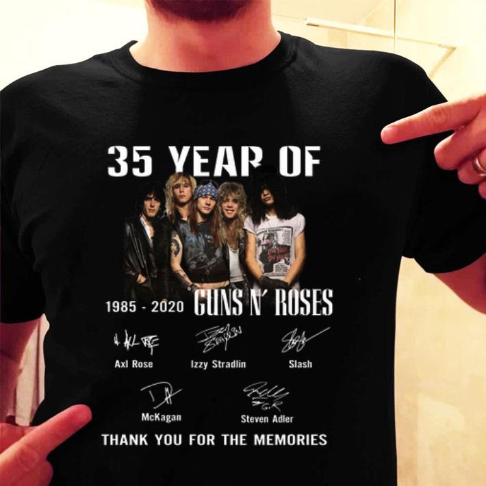 35 Year Of Gun N' Roses 1985-2020 Thank You For The Memories shirt