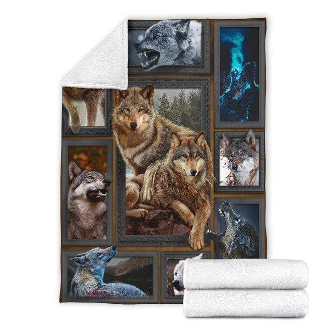 3d huge wolf quilt blanket