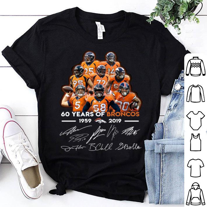 60 years of Broncos 1959-2019 signatures shirt