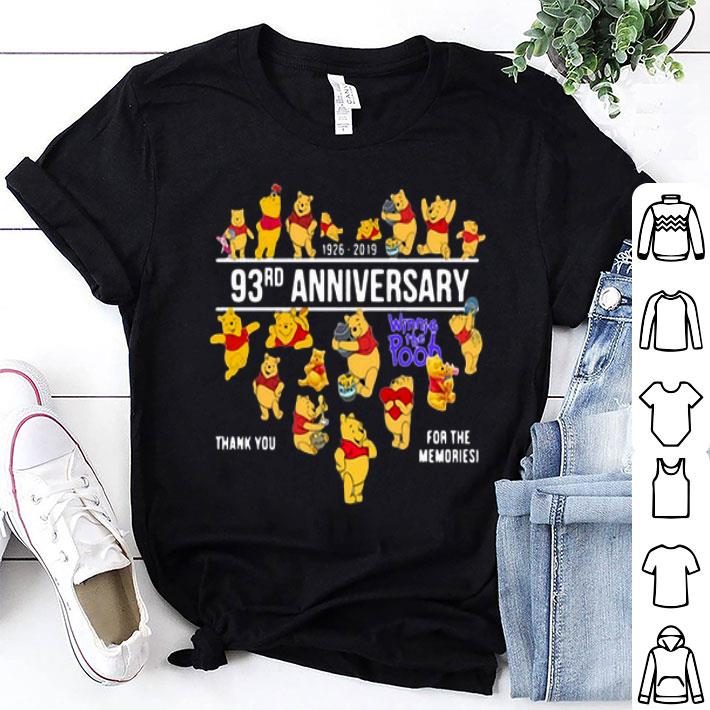 93rd anniversary Winnie the Pooh thank you for the memories shirt
